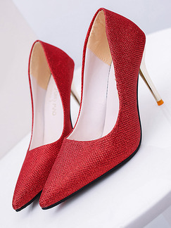 Red Patent Leather Pointed Toe Pumps High Heel Stiletto Heel 9.5cm Heels
