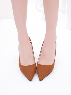 Brown Suede Pointed Toe Pump High Heel Stiletto Heel 9.5cm Heels