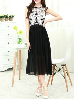 754762e5fcc2 Black and White Chiffon Lace Short Dress for Party Semi Formal DRESS ...