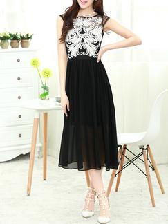 095c707bcbd0 Black and White Chiffon Lace Short Dress for Party Semi Formal DRESS ...
