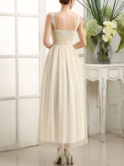 Champagne Chiffon Long Dress for Prom Bridesmaid