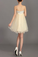 Champagne Sequin Mesh Strapless Short Dress for Cocktail Party