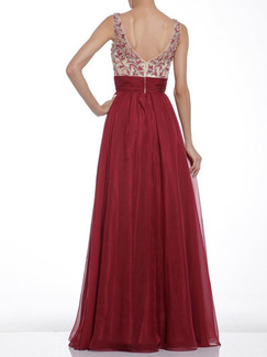 Red Slip V Neck Maxi Plus Size Dress for Cocktail Prom Ball