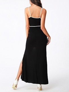 Black Slip Maxi Plus Size Dress for Cocktail Prom  Special Offer