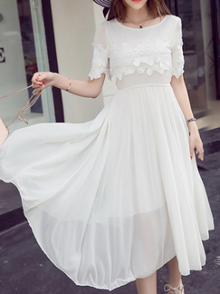 Cream Lace Petite Plus Size Maxi Dress for Bridesmaid Prom_DRESS.PH ...