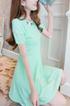 Green Slim Cutout Above Knee Fit & Flare Dress for Casual Party
