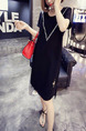 Black Loose H-Shaped Above Knee Shift Dress for Casual Party