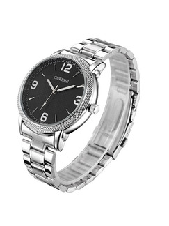 Silver Stainless Steel Band Bracelet Quartz Watch