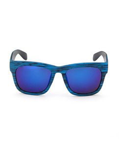 Blue Gradient Plastic Square Sunglasses