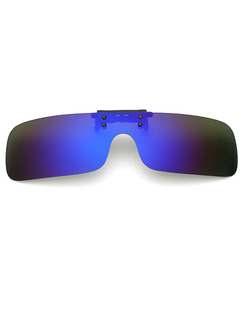 Black and Blue Gradient Plastic Polarized Clip-on Rectangle Sunglasses
