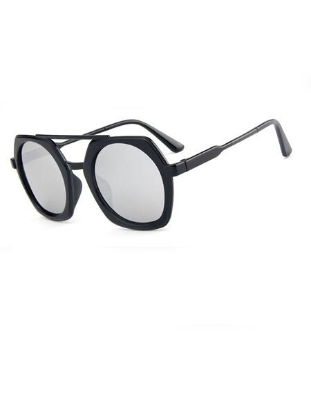 271e2df9c6 Silver Mirror Plastic Trendy Irregular Sunglasses  DRESS.PH ...
