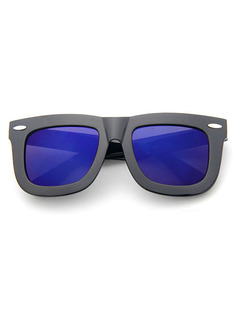 Blue Solid Color Plastic Square Sunglasses