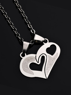 Stainless Steel Heart Necklace