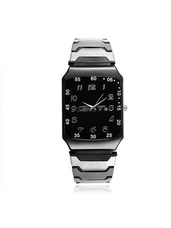 Gray Stainless Steel Band Bracelet Quartz Watch