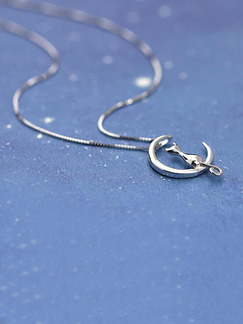 Silver Plated Crescent Necklace