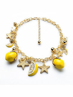Alloy and Plastic Charm Bracelet
