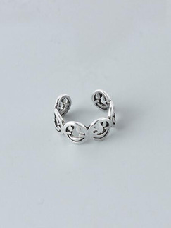 Silver Plated Open Ring