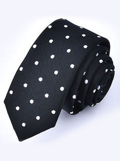 Polyester Wave Point  Tie