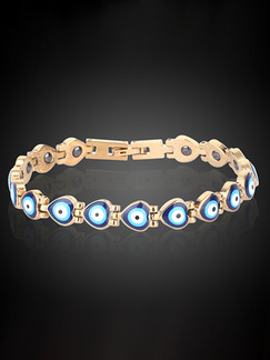 Alloy and Opal Link Bracelet