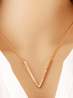 Alloy Chain V Necklace