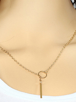 Alloy Chain Ring Necklace