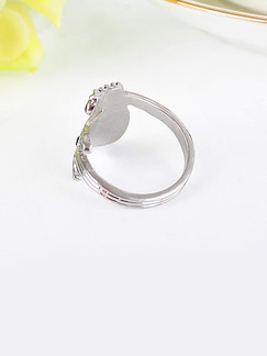 Guitar Alloy and Rhinestone Ring