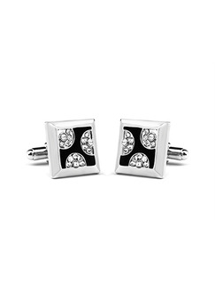 Alloy Bullet Back Cufflinks