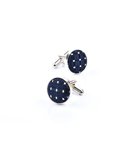 Icon and Fabric Cufflinks