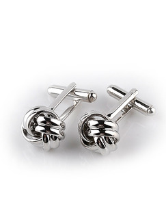 Alloy Knotted Cufflinks