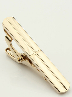 Alloy Gold Plated  Tie Clip
