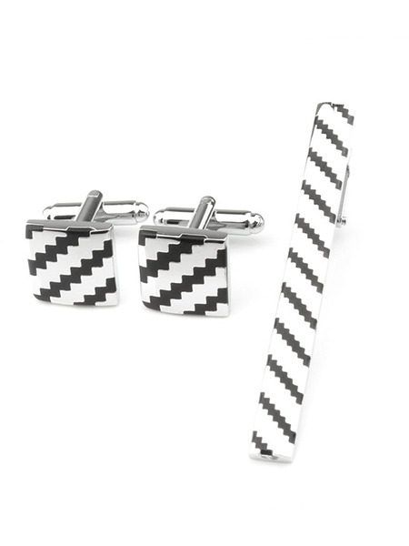 Alloy Bullet Back  Cufflink and Tie Clip