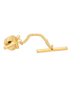 Alloy Gold Plated Tie Lock