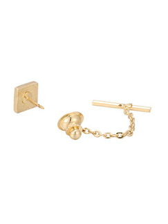 Alloy Gold Plated Rhinestone Tie Lock