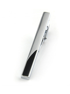 Alloy Silver Plated  Tie Clip