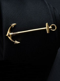 Alloy Gold Plated Anchor  Tie Clip