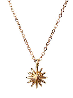 Alloy Sun Flower  Necklace