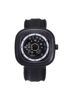 Black Silicone Band Pin Buckle Quartz Watch