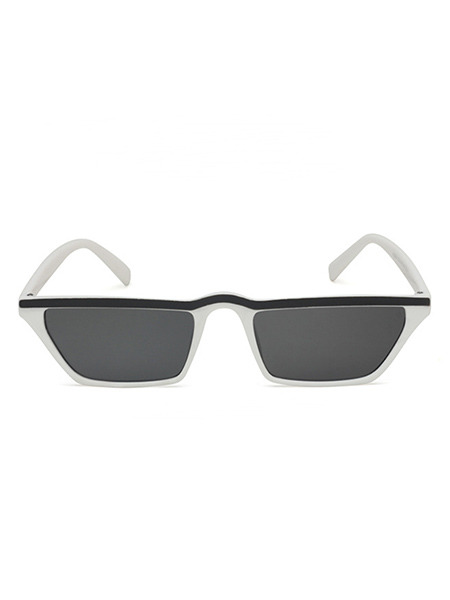 Black Solid PC Eyebrow Men Sunglasses