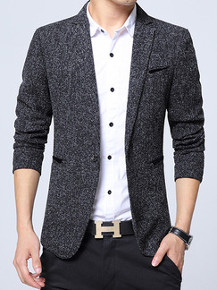 Black Grey Plus Size Slim Lapel Pockets Button Furcal Back Long Sleeve Men Suit for Office Evening Party
