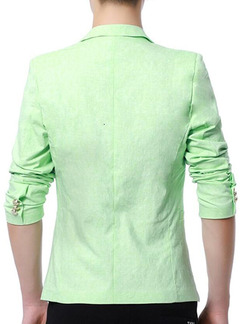Light Green Slim Lapel Long Sleeve Men Suit for Office Evening Wedding Groomsmen