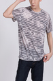 Colorful Round Neck Tee Men Shirt for Casual Party
