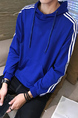 Blue Pull Over Pocket Long Sleeve Plus Size Men Hoodie for Casual