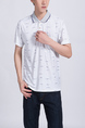 White Collared Chest Pocket Polo Men Shirt for Casual Party Office
