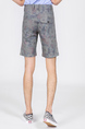 Gray Camoflouge Above Knee Men Shorts for Casual