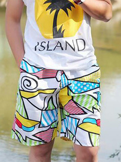Colorful Loose Printed Men Shorts for Casual