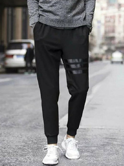 Black Slim Harlen Plus Size Men Pants for Casual Sporty