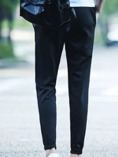 Black Slim Harlem Men Pants for Casual Sporty