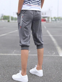 Gray Loose Harlen Men Shorts for Casual Sporty