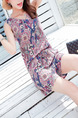 Colorful Plus Size Loose Jumpsuit V Neck Printed Drawstring Jumpsuit for Casual