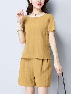 Beige Plus Size Literary Loose Adjustable Waist Jumpsuit for Casual